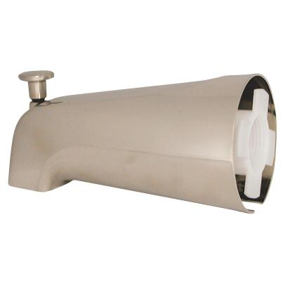 Danco 6 In. Brushed Nickel Bathtub Spout with Diverter