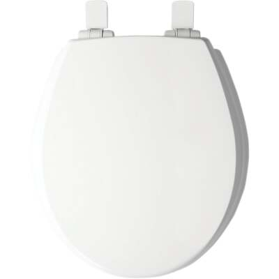 Mayfair Kendall Round Closed Front WhisperClose White Enameled Wood Toilet Seat
