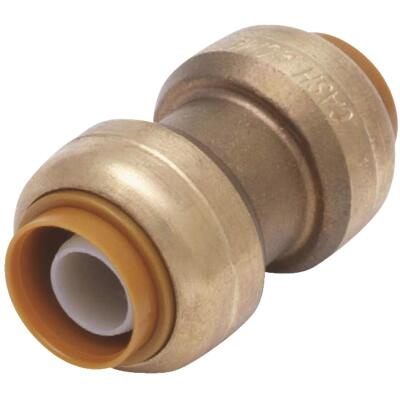 SharkBite 1 In. Push-to-Connect Straight Brass Coupling