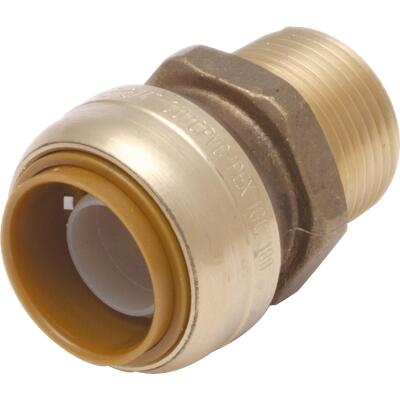 SharkBite 1 In. x 1 In. MNPT Straight Brass Push-to-Connect Male Adapter