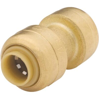 SharkBite 1/4 In. (3/8 In. OD) Push-to-Connect Straight Brass Coupling