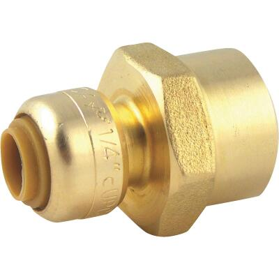 SharkBite 1/4 In. (3/8 In. OD) x 1/2 In. FNPT Reducing Brass Push-to-Connect Female Adapter