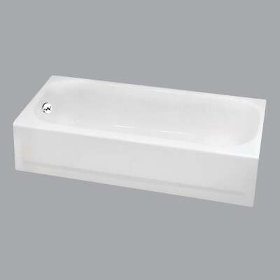 Briggs Pendant V 60 In. L x 30 In. W x 14-1/4 In. D Left Drain Bathtub in White