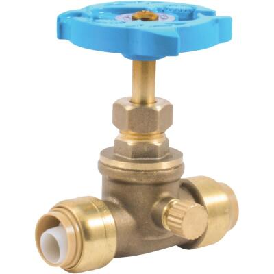 Sharkbite 1/2 In. SB x 1/2 In. SB Brass Push-to-Connect Gate Valve