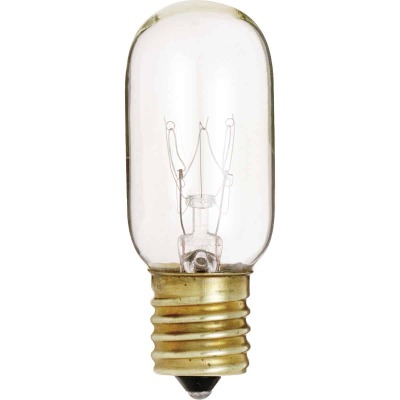 Satco 25W Clear Intermediate Base T8 Incandescent Tubular Appliance Light Bulb