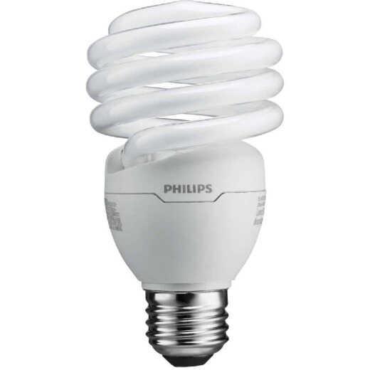 Philips Energy Saver 100W Equivalent Daylight Medium Base T2 Spiral CFL Light Bulb (4-Pack)
