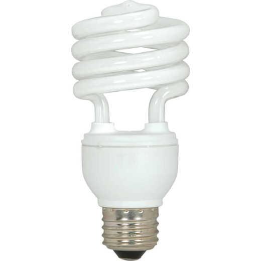 Satco 75W Equivalent Warm White Medium Base T2 Spiral CFL Light Bulb (3-Pack)