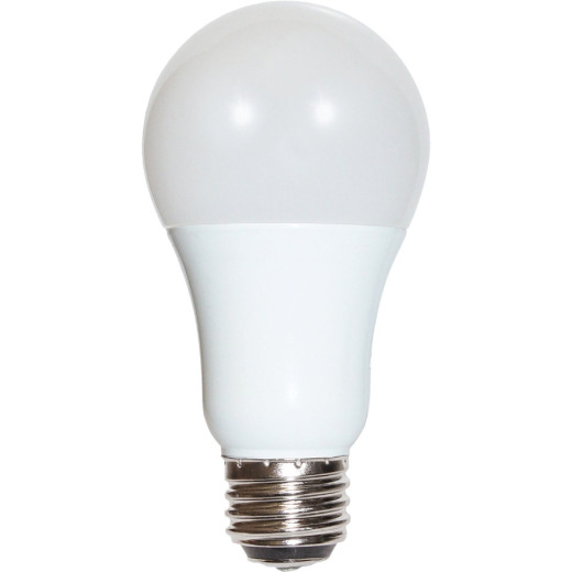 Satco 30W/70W/100W Equivalent Warm White A19 Medium Double Contact 3-Way LED Light Bulb