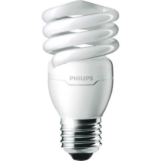 Philips Energy Saver 60W Equivalent Warm White Medium Base T2 Spiral CFL Light Bulb