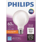 Philips 60W Equivalent Soft White G25 Medium Frosted LED Decorative Light Bulb Image 2