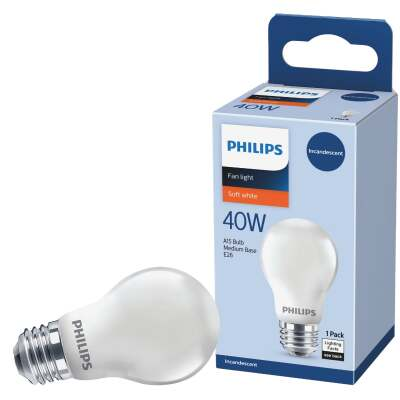 Philips DuraMax 40W Frosted Medium A15 Incandescent Ceiling Fan Light Bulb