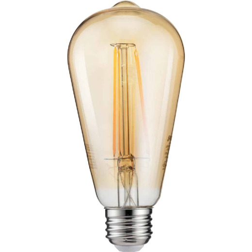 Philips Vintage Edison 40W Equivalent Amber Warm White ST19 Medium LED Decorative Light Bulb