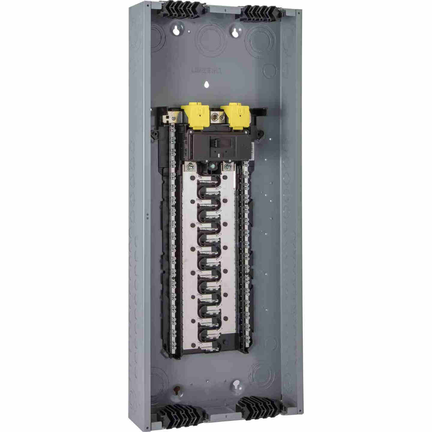 Square D Homeline Qwik-Grip 200A 80-Circuit 40-Space Indoor Main Breaker Plug-On Neutral Load Center Image 1