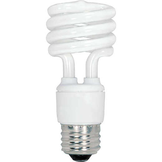 Satco 60W Equivalent Warm White Medium Base T2 Spiral CFL Light Bulb (4-Pack)