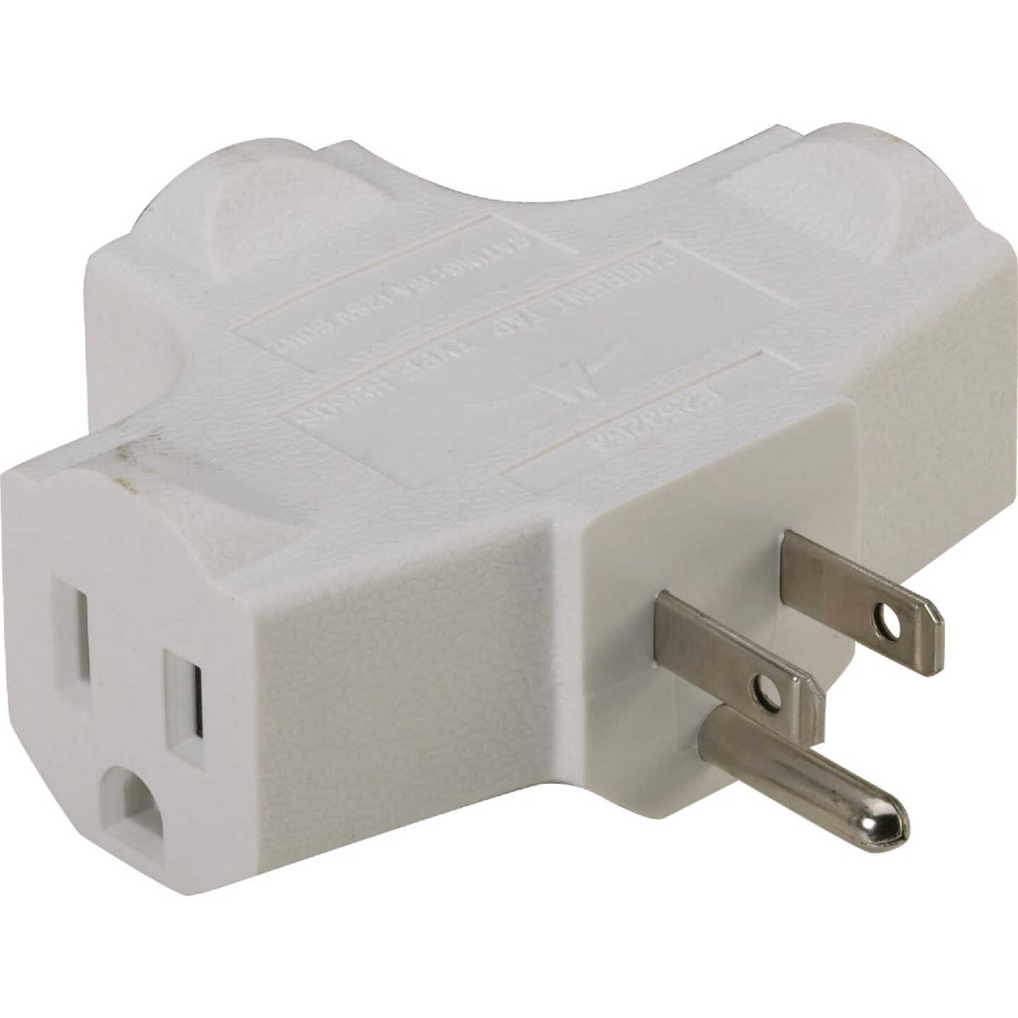 Do it White 15A 3-Outlet Tap Image 1