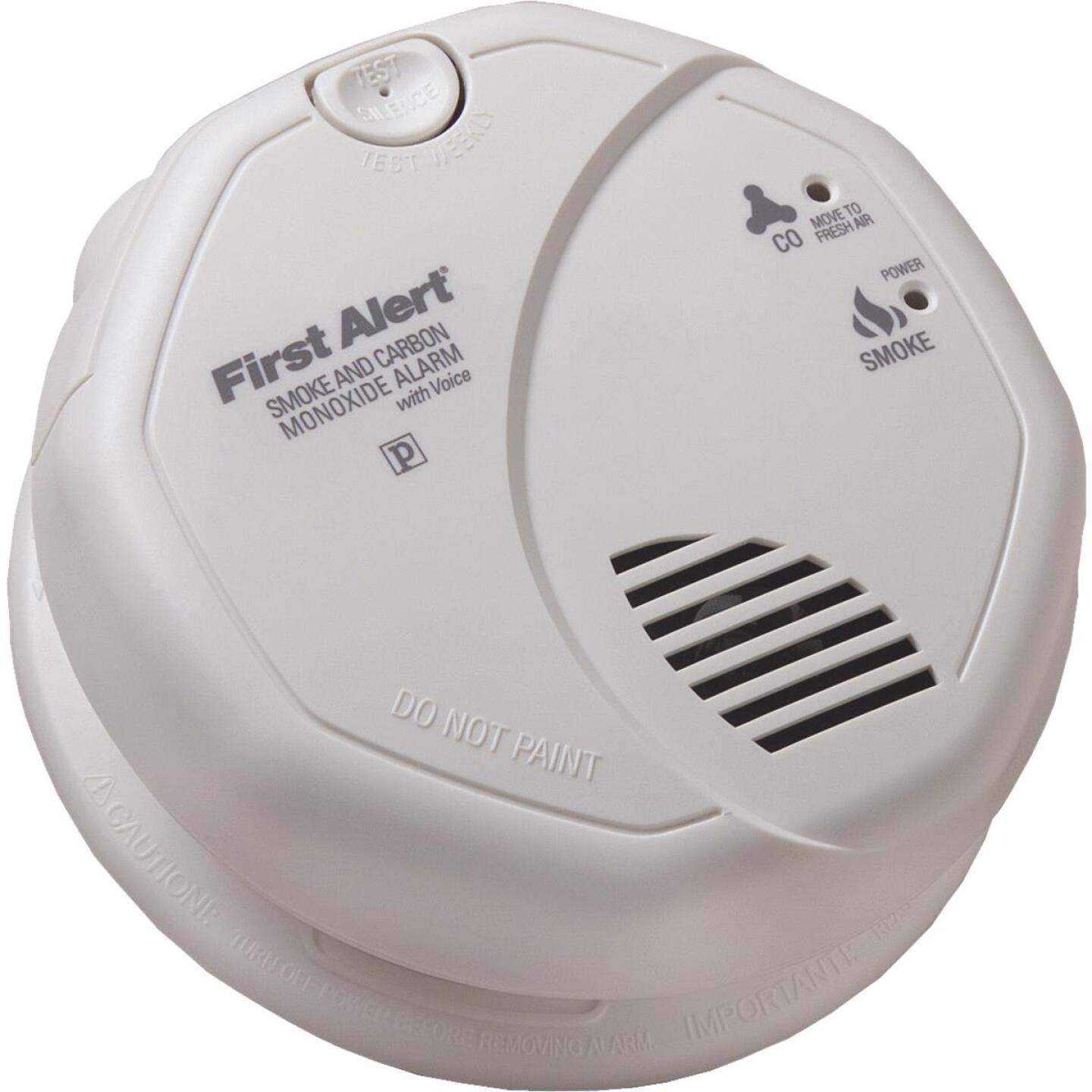 First Alert Hardwired 120V Photoelectric/Electrochemical Carbon Monoxide and Smoke Alarm with Voice Alert Image 1