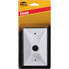 Hubbell Cluster 1-Outlet White Zinc Weatherproof Electrical Cover Image 1