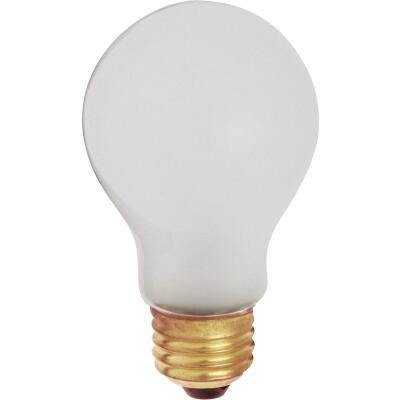Satco 100W Frosted Medium Base A19 Shatterproof Incandescent Rough Service Light Bulb