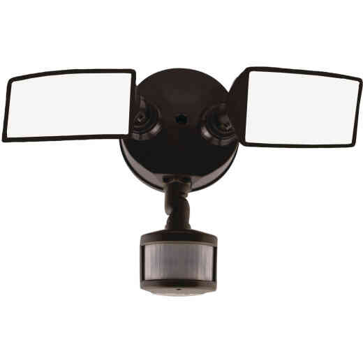 Halo Lumen Selectable Bronze Square Head Motion Activated LED Floodlight Fixture