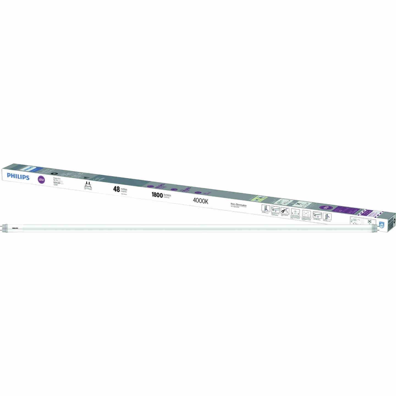 Philips Ballast Bypass 32W Equivalent 48 In. Cool White T8 Bi-Pin LED Tube Light Bulb (2-Pack) Image 1