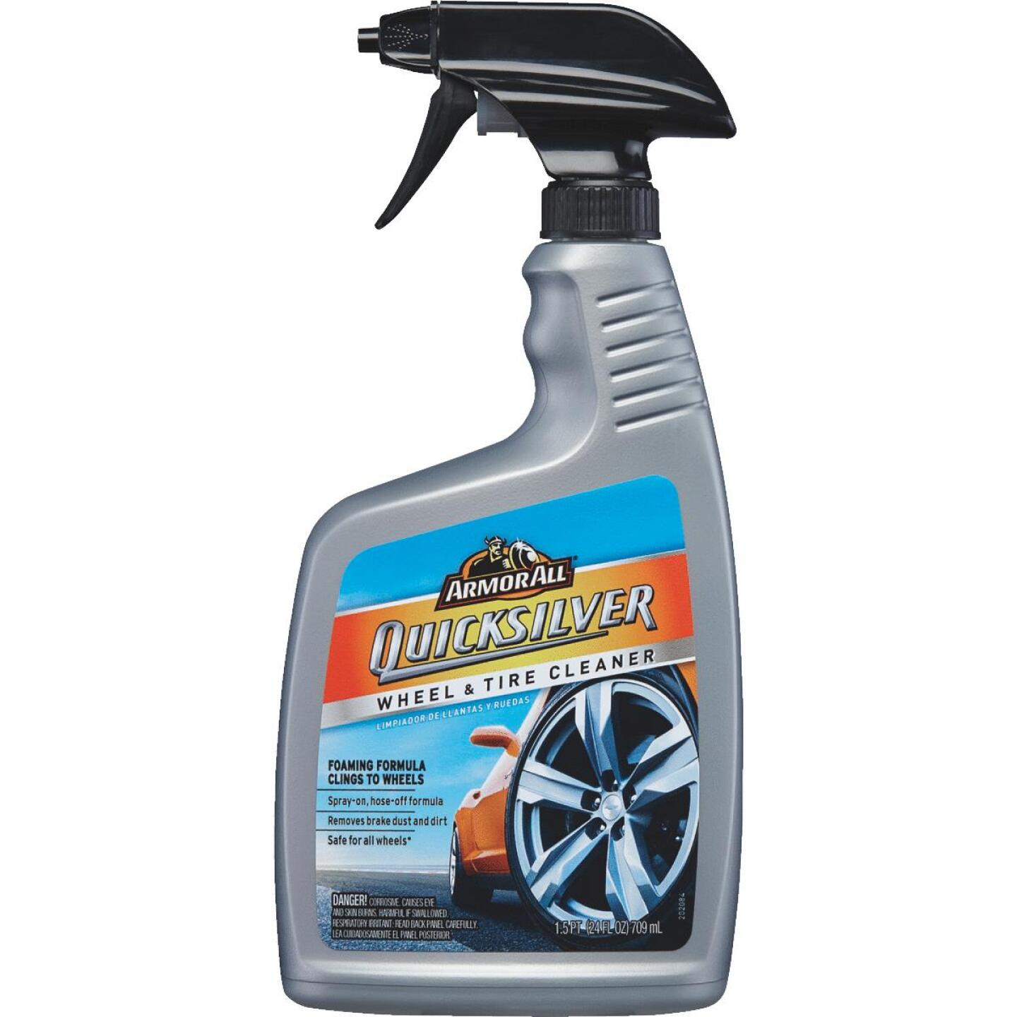 Armor All Quicksilver 24 oz Trigger Spray Wheel Cleaner Image 1