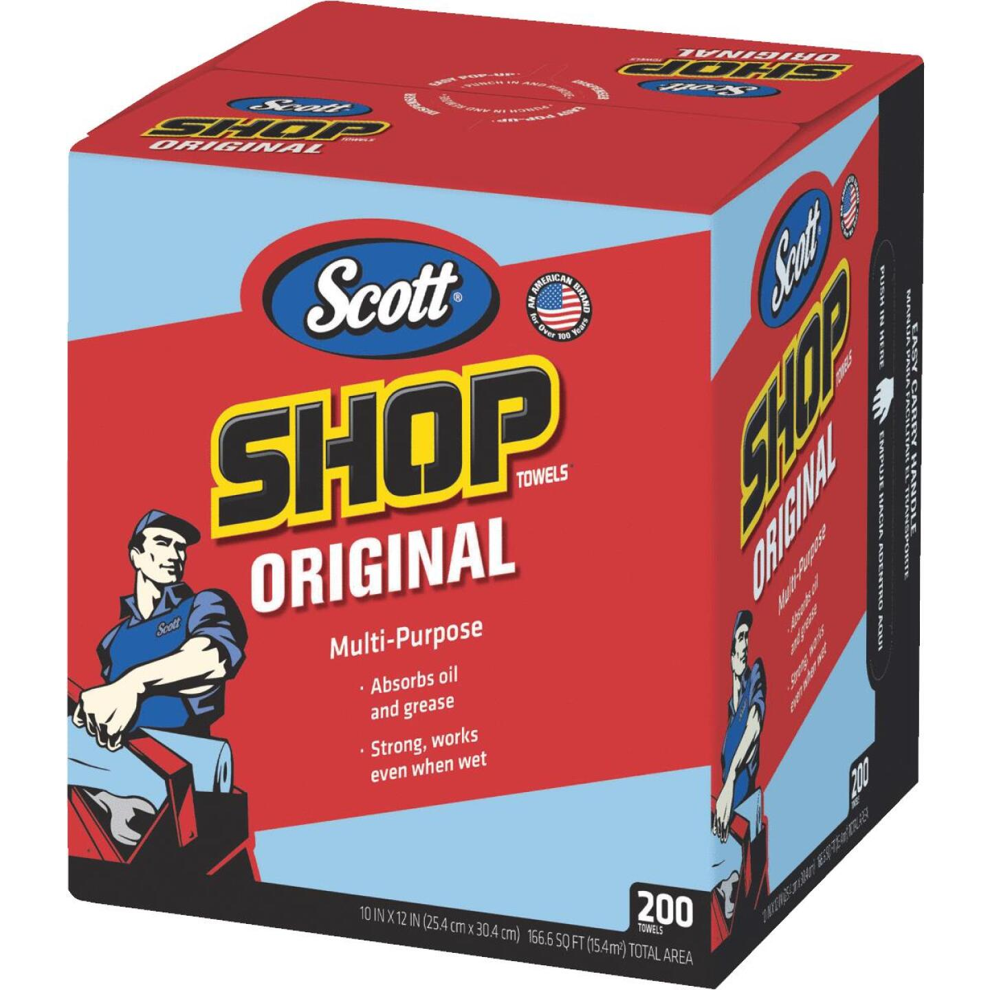 Scott 13 In. W x 10 In. L Disposable Original Shop Towel (200-Sheets) Image 1