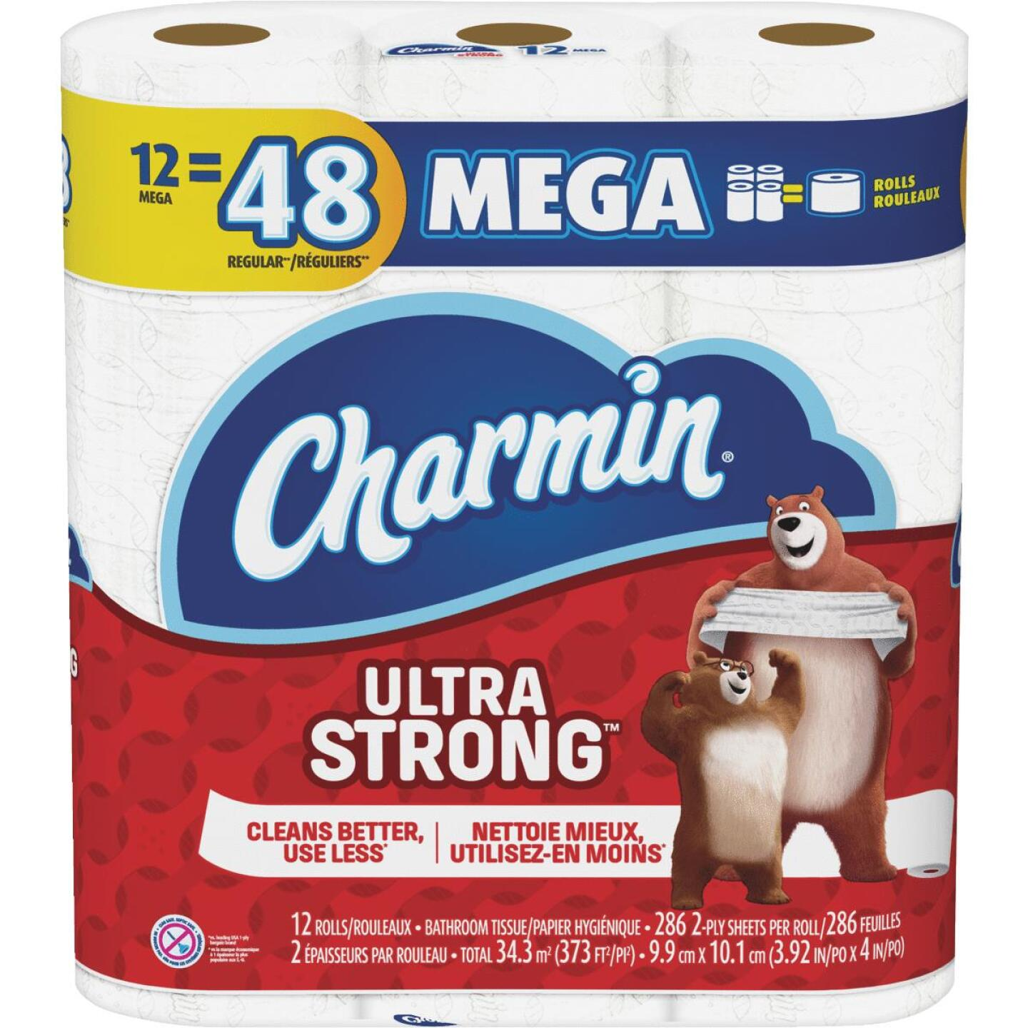 Charmin Ultra Strong Toilet Paper (12 Mega Rolls) Image 1