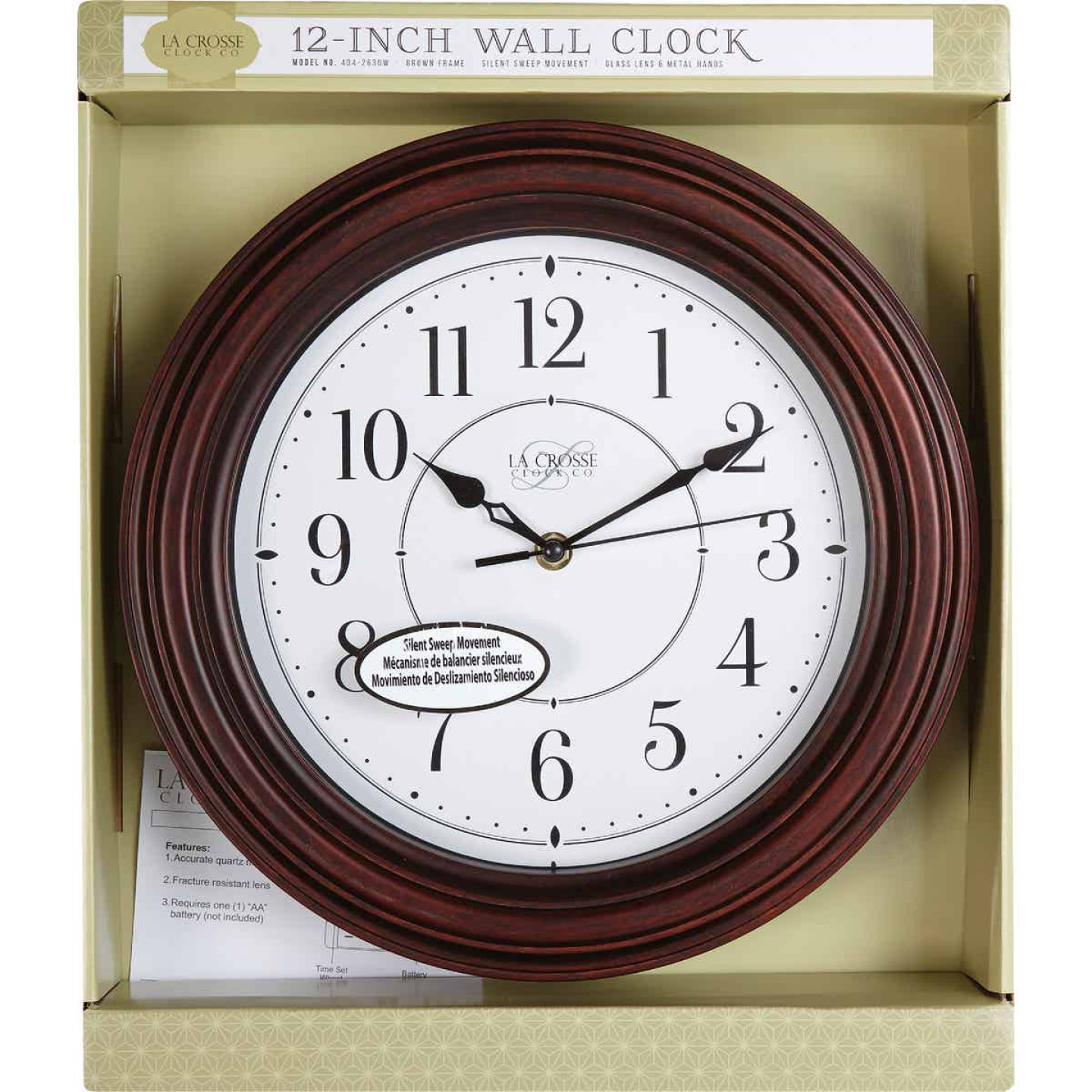 La Crosse Clock Silent Sweep Wall Clock Image 2