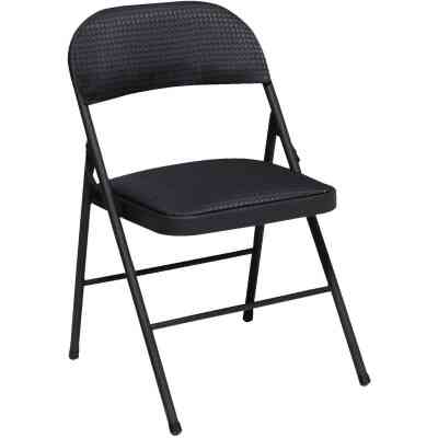 COSCO Fabric Folding Chair, Black