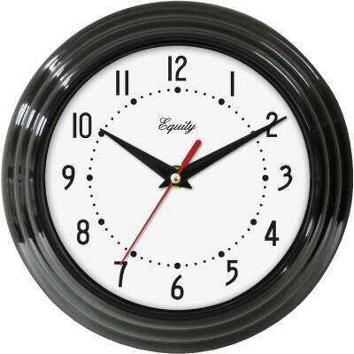 La Crosse Technology Equity Black Traditional Wall Clock