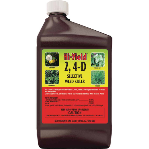 Hi-Yield 2, 4-D 32 Oz. Concentrate Selective Weed Killer