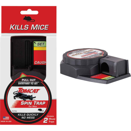 Tomcat Spin Trap Mechanical Mouse Trap (2-Pack)