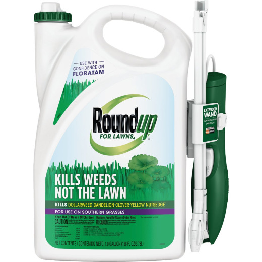 Roundup For Lawns 1 Gal. Ready To Use Wand Sprayer Southern Formula Weed Killer
