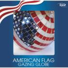 Alpine 10 In. Dia. Glass American Flag Gazing Globe Lawn Ornament Image 2