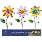 Alpine 15 In. Metal Daisy Garden Stake Lawn Ornament Image 2