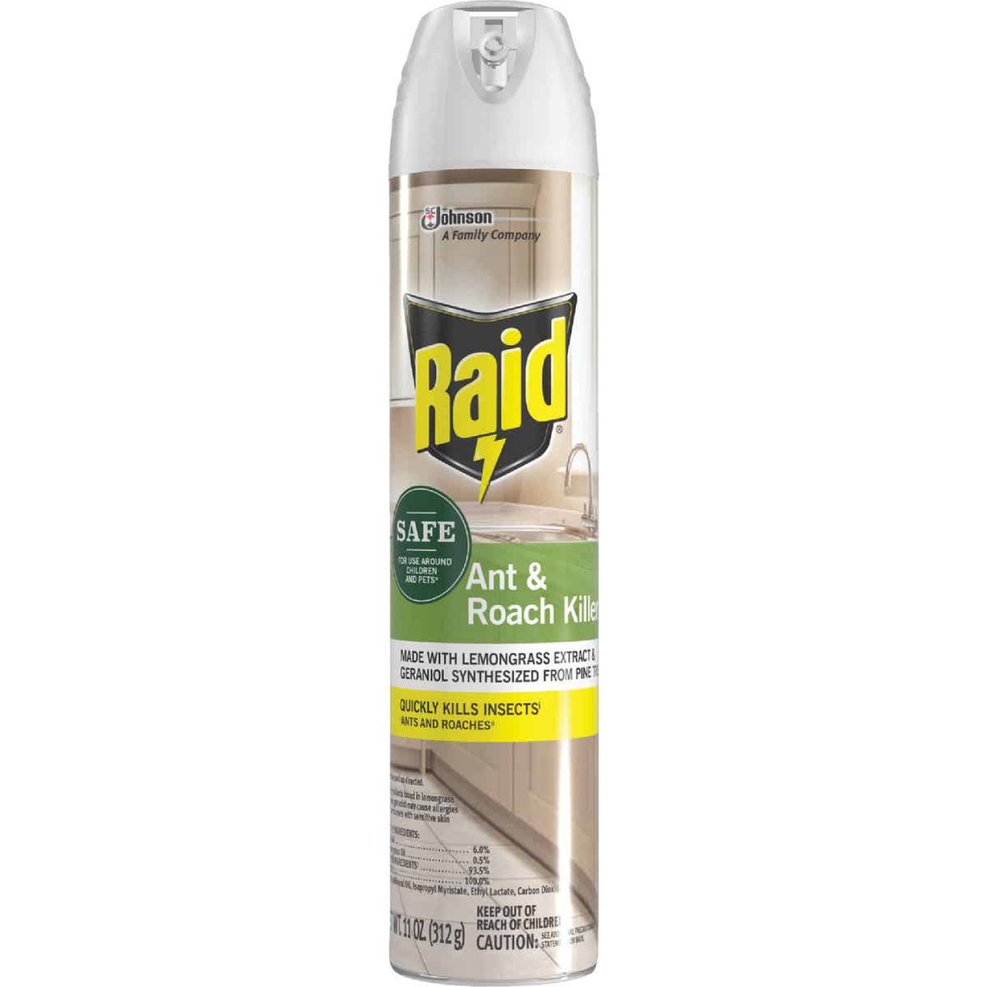 Raid 11 Oz. Aerosol Spray Ant & Roach Killer with Essential Oils Image 1