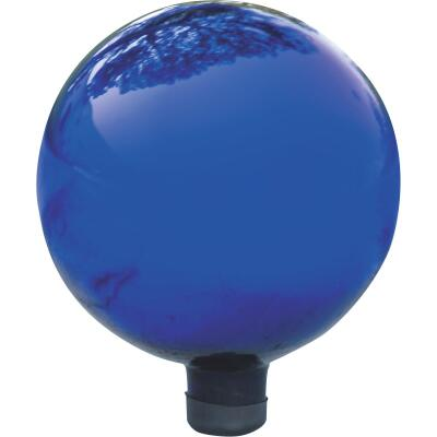Alpine 10 In. Dia. Electric Blue Glass Gazing Globe Lawn Ornament