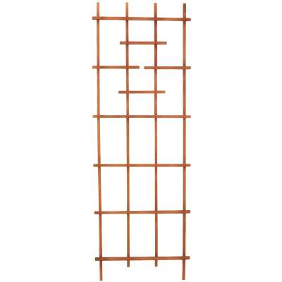 Panacea 72 In. Brown Wood Ladder Trellis