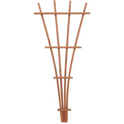 Panacea 48 In. Brown Wood Fan Trellis