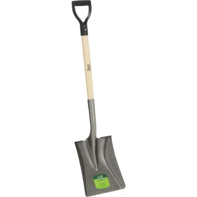 Best Garden 28 In. Wood D-Handle Square Point Shovel