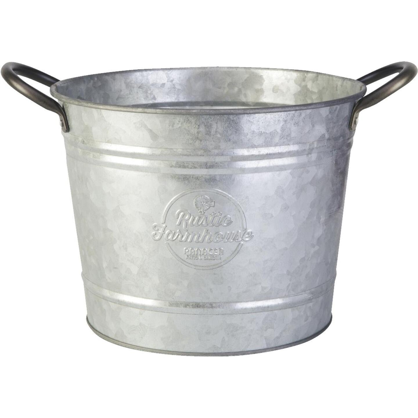 Panacea 8 In. Galvanized Steel Washtub Planter Image 1