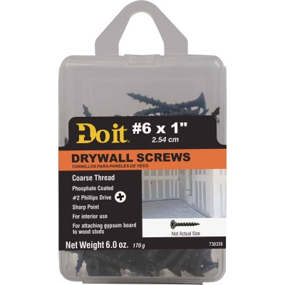 Do it #6 x 1 In. Coarse Thread Phosphate Drywall Screw