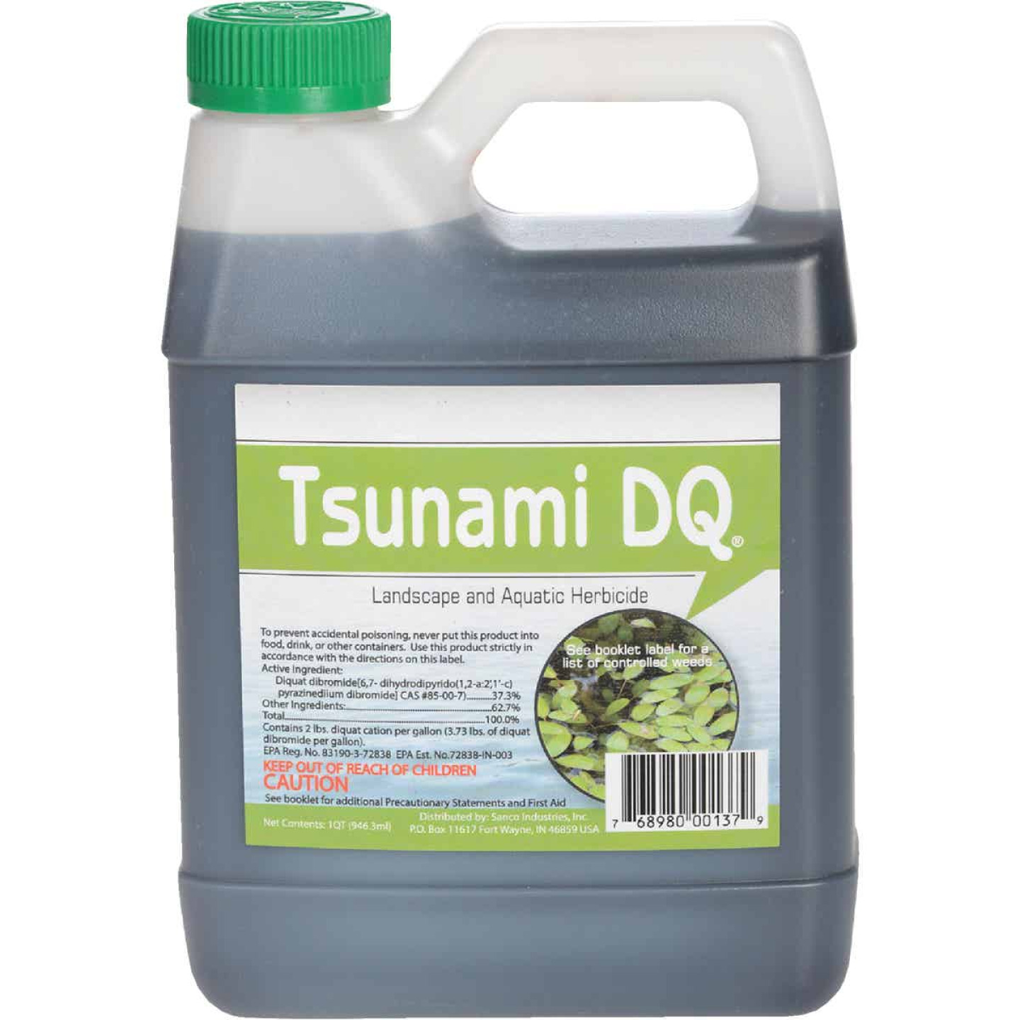 Tsunami DQ 1 Qt. Liquid 2 to 8 Qt./Acre Coverage Area Pond Weed Control Image 1