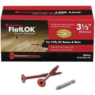 FastenMaster FlatLok 3-1/2 In. Engineered Structural Wood Screw (50 Ct.)
