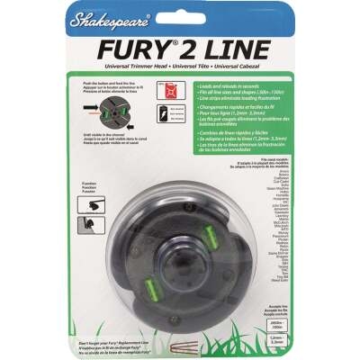 Shakespeare Fury 2 Universal Shaft Replacement Trimmer Head