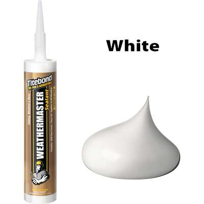Titebond WeatherMaster 10 Oz. Polymer Sealant, 44001 White