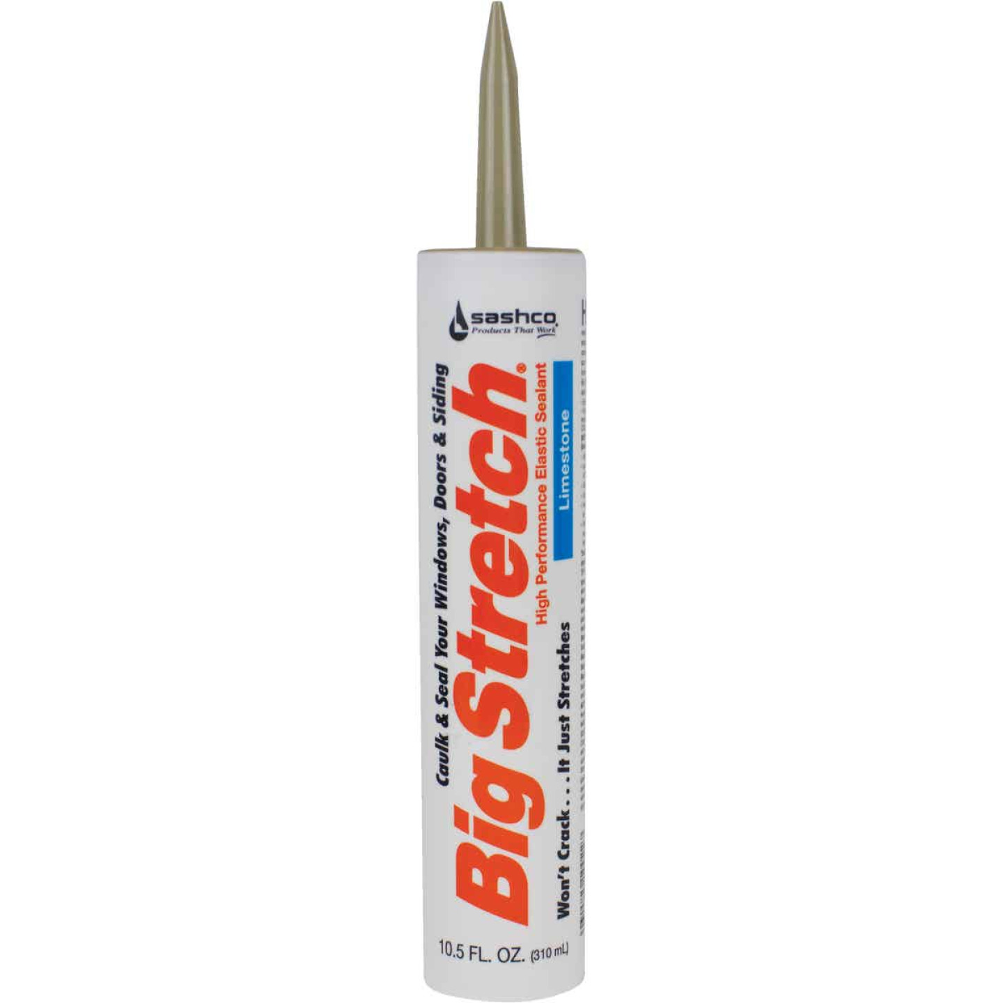 Sashco Big Stretch 10.5 Oz. Acrylic Elastomeric Caulk, Limestone Image 1