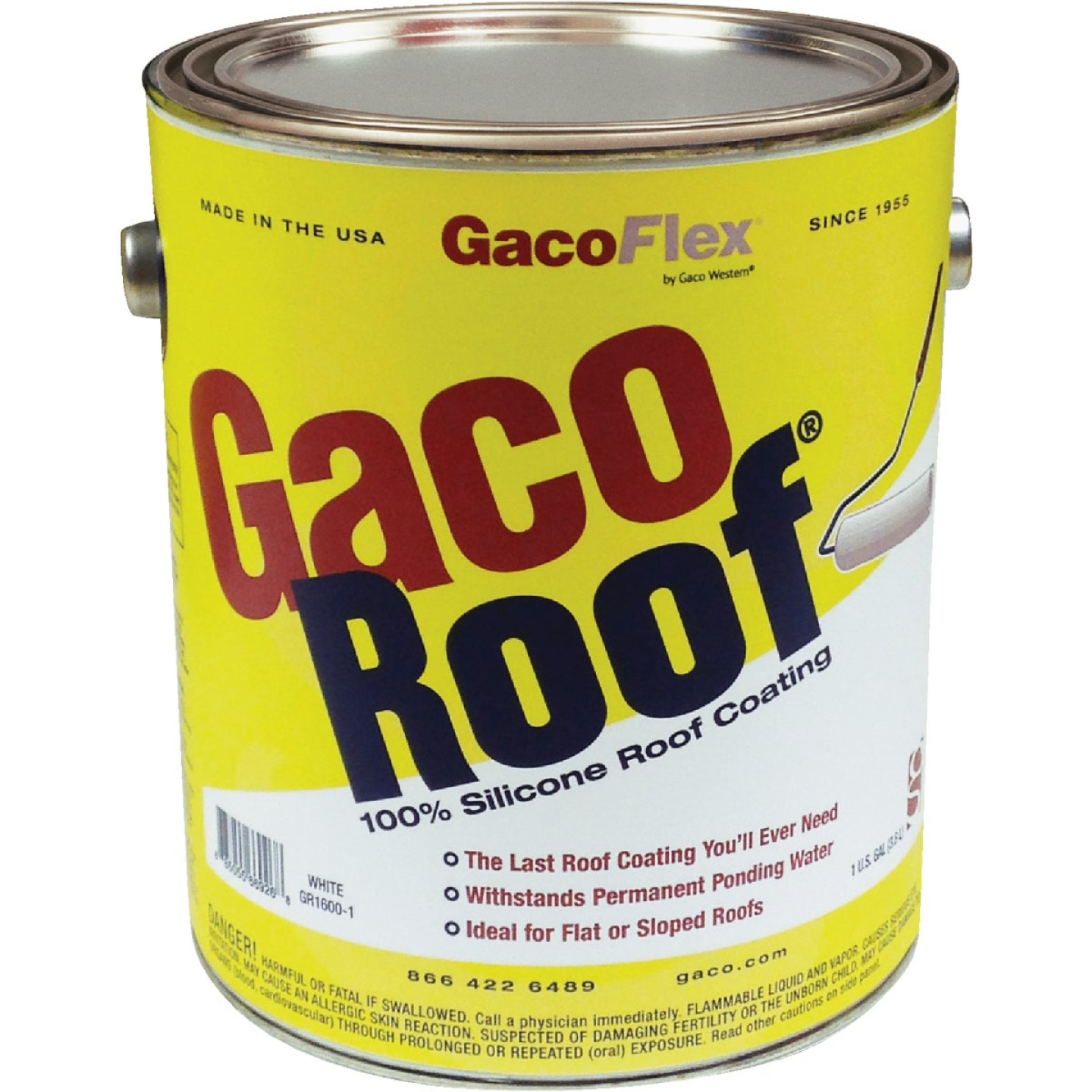 GacoFlex GacoRoof VOC-Compliant Silicone Roof Coating, White, 1 Gal. Image 1