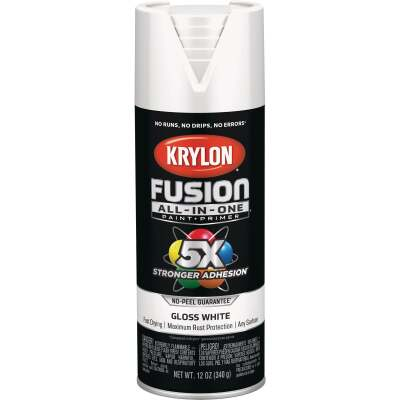 Krylon Fusion All-In-One Gloss Spray Paint & Primer, White