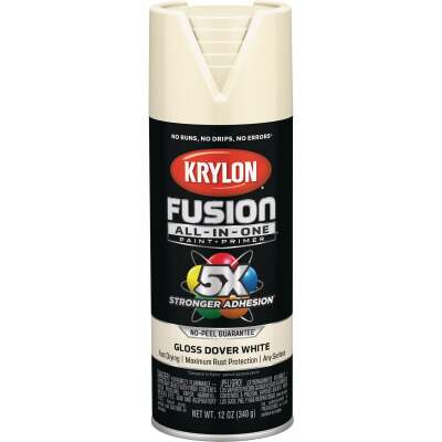 Krylon Fusion All-In-One Gloss Spray Paint & Primer, Dover White